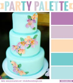 Tropical inspired party palette #colorpalette