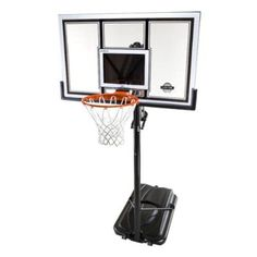 Nothing like a game of basketball played where you want, to relieve your stress. This Lifetime 54 Inch Portable Basketball Hoop System offers you the opportunity to play you favorite game anywhere you desire. The mobile base is very easy to move, and for stability you do not need cement, all you need is to fill the base with water or sand and empty it after the game.