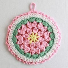 Pot holder pattern. This site has lots of neat crochet patterns. :-)