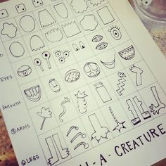 it's an HSES Arty Party! create a creature by rolling dice
