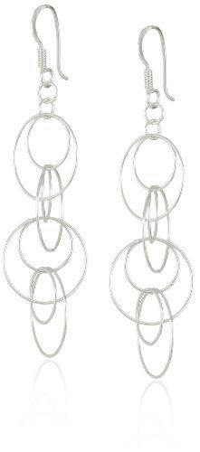 c4cf042cc Sterling Silver Multi-Circle Link Dangle Earrings Amazon Curated  Collection,http://