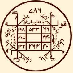 الكشف عن صحة العزائم والأقسام Islamic Phrases, Islamic Messages, King Solomon Seals, Black Magic Book, Magic Squares, Alchemy Symbols, Islamic Patterns, Islamic Images, Islamic Art Calligraphy