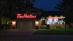 Now there's one way to get a lot of attention on your business! Great idea, Tim Hortons!