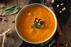 Cleanse your body and soul with this light, warming detox carrot soup recipe filled with turmeric, ginger, garlic, cinnamon, and cayenne.