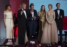 Melania and Ivanka Trump dazzle in inaugural ball gowns | Daily Mail Online