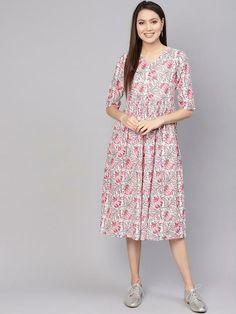 Details about  /Ethnic Style Multicolor Vibrant Kurta Set Featuring Floral Motif With Ikat Pants