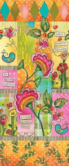 NEW 4 Custom Family Garden Art Pole from Quirks of Art Family