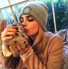 'Meet my new bunny @cecildelevingne': Cara Delevingne took to social media on Wednesday to introduce the world to adorable new furry additio...