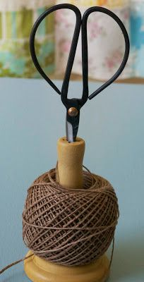 Maize Hutton: How to Make a Wooden Spool Twine Holder