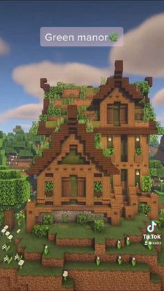 Minecraft House Plans, Easy Minecraft Houses, Minecraft House Tutorials, Minecraft Decorations, Amazing Minecraft, Minecraft Tutorial, Minecraft Blueprints, Minecraft Creations, Minecraft Crafts