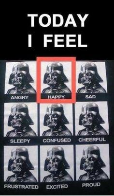 Darth Vader's many emotions. :)