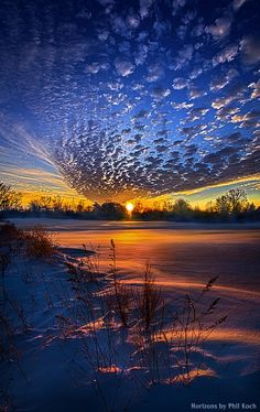 """Time To Come Home""  Horizons by Phil Koch. Lives in Milwaukee, Wisconsin, USA. phil-koch.artistwebsites.com"