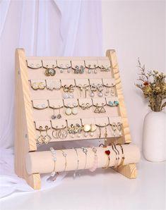Organizador de joyas exhibición de joyas soporte de perno de | Etsy Diy Jewelry Holder, Gold Studs, Jewellery Display, Jewelry Organization, Projects To Try, Stud Earrings, Etsy, Unique Jewelry, Handmade Gifts