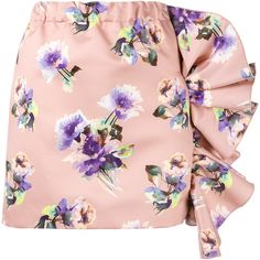 MSGM floral print skirt (€385) ❤ liked on Polyvore featuring skirts, pink, floral print skirt, floral skirt, msgm skirt, floral printed skirt and msgm
