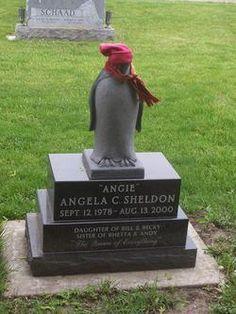 Penguin gravestone