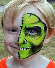 green monster face painting