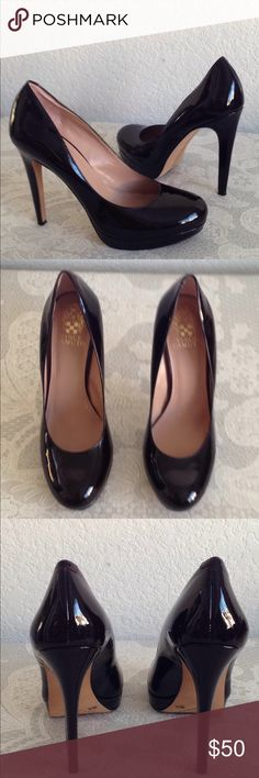"""Vince Camuto  patent leather pumps Leather. No flaw. Looks new. 4.75"""" heels. 0.5"""" platform. NO TRADE!!! Vince Camuto Shoes"""