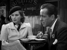 Old Hollywood ~ Scene from Casablanca ~ Ingrid Bergman and Humphrey Bogart in Paris