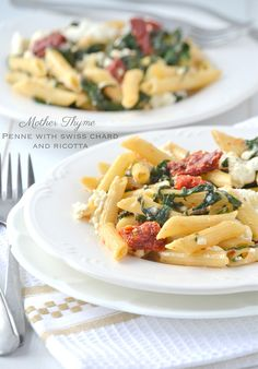 Penne with Swiss Chard and Ricotta