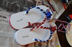 Yes They're All Ours: Flip Flops for the Fourth  -- Host a Flip Flop Decorating Party!