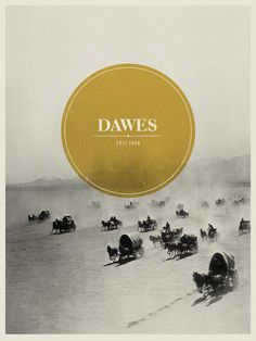 Dawes 2012 tour poster. Huddle up the wagons! Yeehaw!