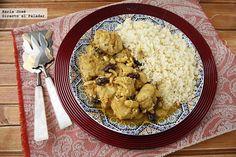Pollo marroquí con cuscús receta fácil y rápida con Thermomix (Directo Al Paladar) Dünya mutfağı Kitchen Recipes, Cooking Recipes, Fast Low Carb, Healthy Cooking, Healthy Recipes, Pollo Chicken, Kneading Dough, Tagine Recipes, Moroccan Chicken