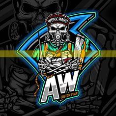 Logo Desing, Esports Logo, Branding Ideas, Game Logo, Cool Logo, Custom Logos, Hard Work, Illustrator, Backgrounds