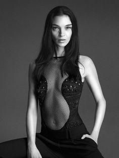 Mert & Marcus shoot Mariacarla Boscono, Daria Strokous and Liu Wen wearing elegant fishnet and lace lingerie for La Perla's Fall/Winter 2014 campaign. Luxury Lingerie, Lingerie Models, Liu Wen, Escote Sexy, Josephine Le Tutour, Italian Lingerie, The Libertines, Style Couture, Bridal Lingerie