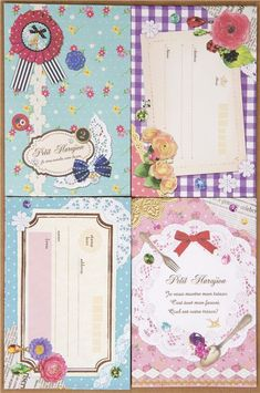 Collage Letter Set with flowers lace ribbons