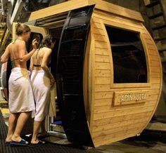 Sauna gondola in Finland ! Un télécabine Sauna :D