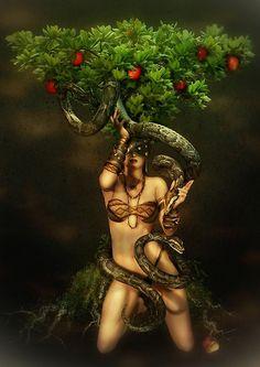 Eve,The Serpent & the Forbidden Fruit