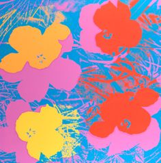 Andy Warhol, Flowers, 1970, Serigraph on paper, 36 x 36 in. Pomona College Collection. Gift of the Andy Warhol Foundation for the Visual Arts. Extra, out of the edition. Designated for research and educational purposes only. © The Andy Warhol Foundation for the Visual Arts, Inc.