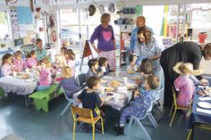 YOUNG children and teachers of the Beachcomber Kindergarten went to the preschool centre recently wearing only their pyjamas.