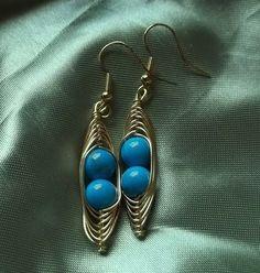2 Peas in a pod Earrings by deans on Etsy, $9.00