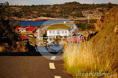 Photo about Remote view at the white hyte in North Sea road and fjord. Image of island, porter, hyte - 43848255 North Sea, Norway, Vectors, Remote, Paradise, Coast, Sign, Stock Photos, Island