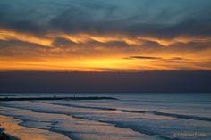 A very unique sunrise this morning on Galveston Island