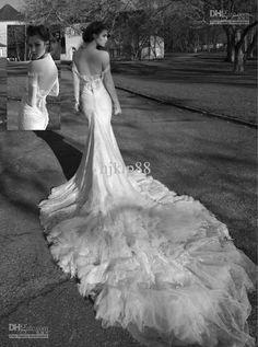 Wholesale Wedding Dresses - Buy Marvellous Glamorous New Strapless White Luxury Lace Mermaid Wedding Dresses Inbal Dror Sexy Backless Evening Dresses, $232.95 | DHgate