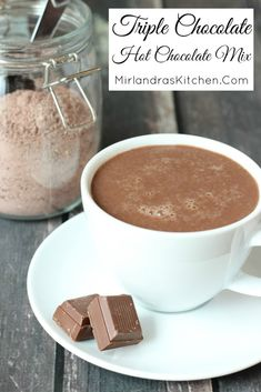 Milk chocolate, white chocolate and Dutch cocoa come together in this classic and decadent hot chocolate mix perfect for every day drinking and gifts. You can make an entire batch of mix in six minutes! My secrets of hot chocolate making mig Homemade Hot Chocolate, Hot Chocolate Bars, Hot Chocolate Recipes, Chocolate Making, White Chocolate, Lindt Chocolate, Chocolate Drizzle, Chocolate Roulade, Chocolate Candies