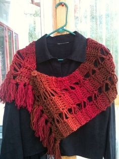 Shawl Crochet Pattern with Dropped Stitch Look On by Stolenhook, $5.99