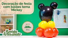 Decoração de Festa com Balões Tema Mickey