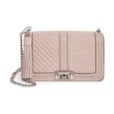 Love crossbody bag by Rebecca Minkoff. With its chic mix of quilted suede and leather done in a delicate pink hue, who wouldn't fall in ...