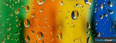 Water Droplets Timeline Cover 850x315 Facebook Covers - Timeline Cover HD