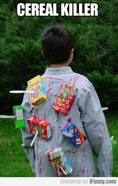 Cereal Killer. Halloween costume I am a costumer and this is funny