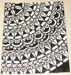 Items Similar To Original Pen And Ink Aceo Black White Design On Etsy
