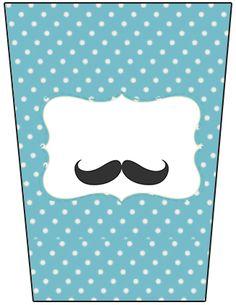 Bisnaga Flip Top Chá de Bebê Mustache