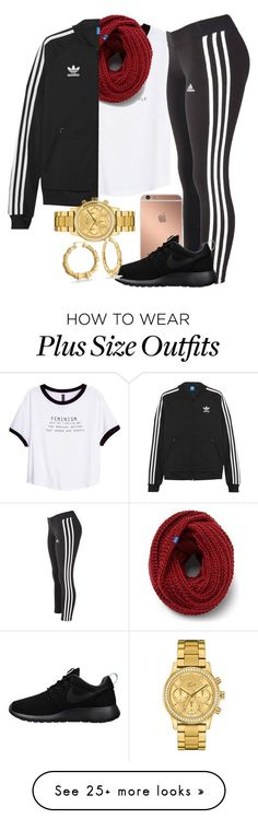 """""""Untitled #31"""" by thetruthdoesnothavetohurt on Polyvore featuring H&M, adidas, Mura, NIKE, Keds, adidas Originals, Lacoste and Bling Jewelry"""