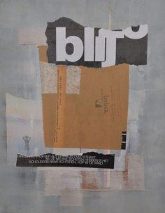 Susan Lambeck - Collage & Mixed media artwork 'Blij' (Happy). 2013.