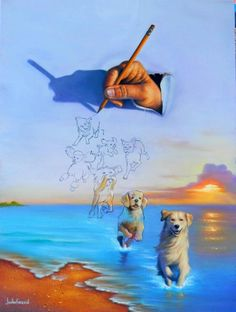 As pinturas surrealistas de Jim Warren