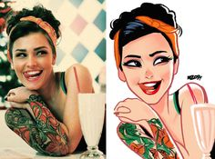 Artist- Transforms-Finds-Photos-People-into-Illustrated-Characters-2