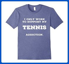 Mens Tennis Mad T Shirts. Funny Gifts Ideas for Working Players. Large Heather Blue - Sports shirts (*Amazon Partner-Link)